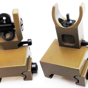 AR-15 FLIP-UP SIGHT FRONT & REAR  SET - BLACK